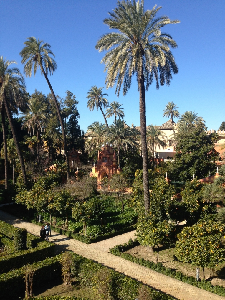 Une infime partie des immenses jardins de l'Acazar