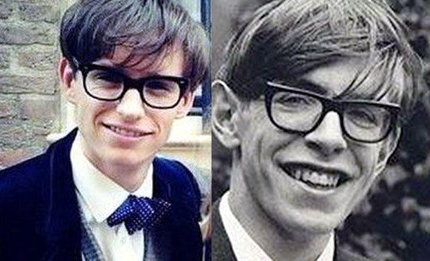 Impressionante ressemblance entre le véritable Stephen Hawking et l'acteur Eddie Redmayne